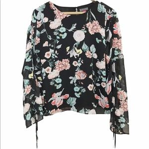 Vince Camuto Floral Gardens Long Sleeve Blouse